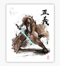 Jedi Knight from Star Wars with calligraphy Sticker