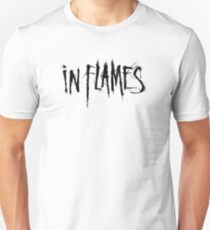 Band In Flames Logo Black T-Shirt