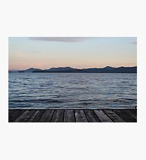 Dock-View Sunset  Photographic Print