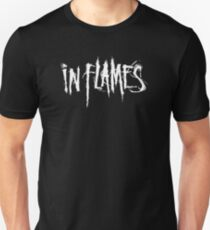Band In Flames Logo White T-Shirt