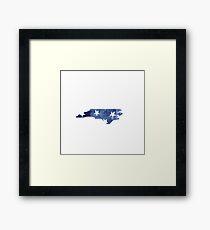 North Carolina with Stars Framed Print