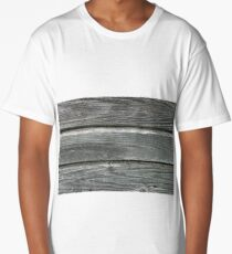 Texture of gray weathered boards Long T-Shirt