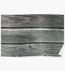 Texture of gray weathered boards Poster
