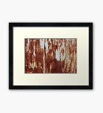 Rusty iron  abstract background Framed Print