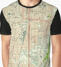 Vintage Map of Fort Worth Texas (1955) Graphic T-Shirt