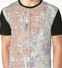 Vintage Map of Fort Worth Texas (1955) 2 Graphic T-Shirt