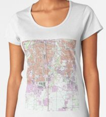Vintage Map of Fort Worth Texas (1955) 2 Women's Premium T-Shirt