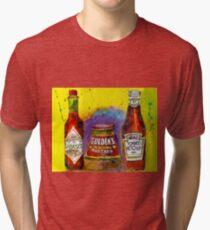 Tabasco - Gulden - Heinz Ketchup - Kitchen Art Tri-blend T-Shirt