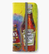 Tabasco - Gulden - Heinz Ketchup - Kitchen Art iPhone Wallet/Case/Skin
