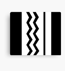 Abstract, geometric, zigzag, strips - black and white. Canvas Print
