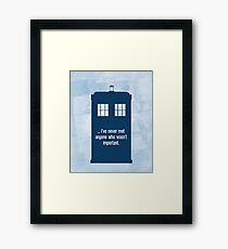 Doctor Who  - Tardis with Quote  Framed Print
