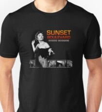 SUNSET BOULEVARD Norma Desmond Film Strip Black & White T-Shirt