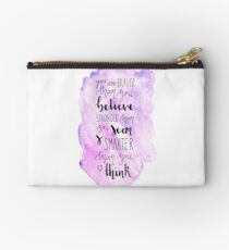 You are braver than you believe Studio Pouch