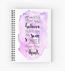 You are braver than you believe Spiral Notebook