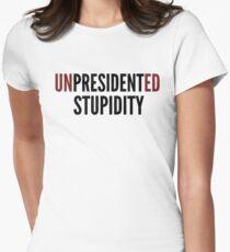 Unpresidented Stupidity Mocking Trump Language Black/Gray Design T-Shirt