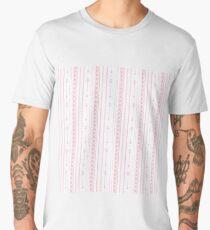 Blush pink white bohemian arrows zigzag geometrical Men's Premium T-Shirt