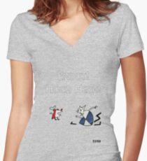 Рабочий И Паразит Women's Fitted V-Neck T-Shirt