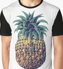 Ornate Pineapple (Color Version) Graphic T-Shirt