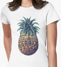 Ornate Pineapple (Color Version) Women's Fitted T-Shirt