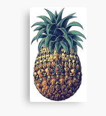 Ornate Pineapple (Color Version) Canvas Print
