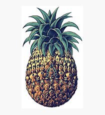 Ornate Pineapple (Color Version) Photographic Print