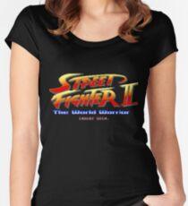 Street Fighter II - Pixel Art Women's Fitted Scoop T-Shirt