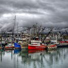 Boats In The Harbor - HDR by akaurora