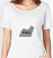 puli gray name silhouette Women's Relaxed Fit T-Shirt