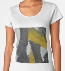 Yellow And Black Abstract 2 Women's Premium T-Shirt