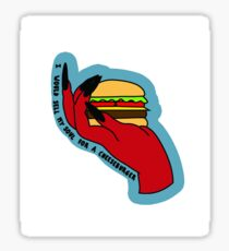 GIMME THAT CHEESE NOW Sticker