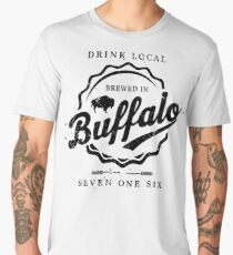 Brewed In Buffalo Bottle Cap Men's Premium T-Shirt