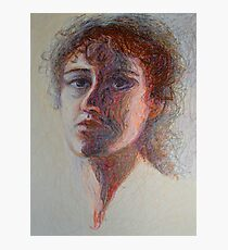 Two Faces - Portrait Of A Woman - Outsider Art Photographic Print