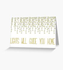 Coldplay Fix You Greeting Card