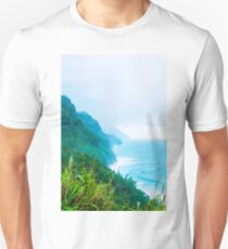 green mountain and ocean view at Kauai, Hawaii, USA T-Shirt
