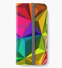 Colorful abstract illustration, low poly style iPhone Wallet