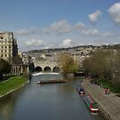 The river avon at Bath by Richard Elston