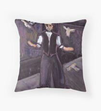The pidgeon fancier Throw Pillow