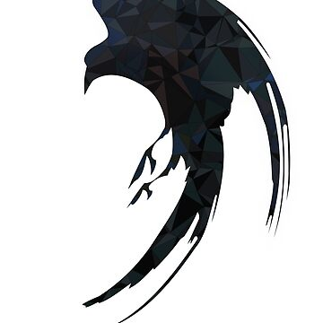 Crow Geometric Low-Poly & Distressed by Tractorjaws