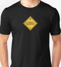 Warning! Bitcoin Extremely Volatil Unisex T-Shirt