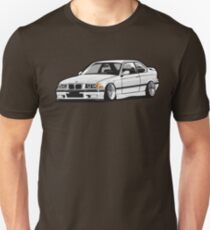 Stanced out E36 White Unisex T-Shirt