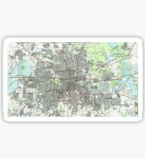 Houston Texas Map (1992) Sticker