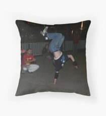 Break dancers on the bank of Thames Throw Pillow