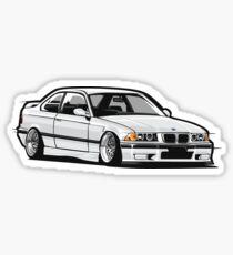 Stanced out E36 White Sticker