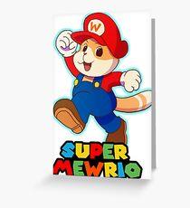 Super Mewrio Greeting Card