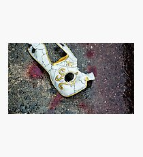 Blood Stained Mask | Bioshock  Photographic Print