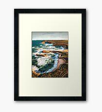 port campbell coastline in australia Framed Print