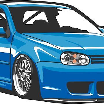 Stanced out Golf MK4 by StickerNation