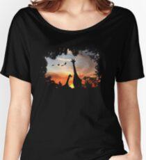 Wild African Sunset Women's Relaxed Fit T-Shirt