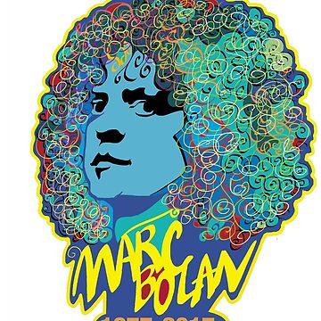 Marc Bolan 1977-2017 by BalbinaStudio