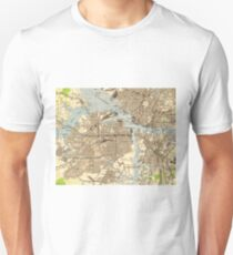 Vintage Norfolk & Portsmouth Virginia Map (1944) T-Shirt
